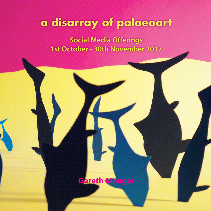 "Cover image for Gareth Monger's ""A Disarray of Palaeoart"""