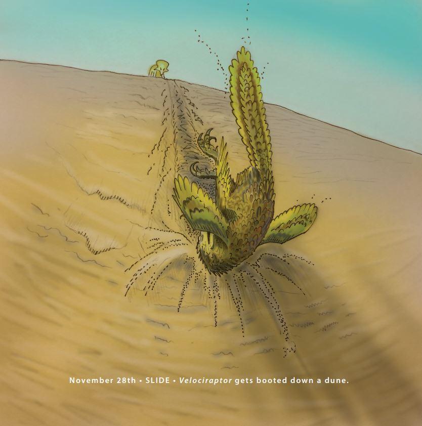 Velociraptor v Protoceratops by Gareth Monger