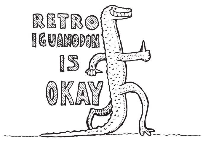 Retro Iguanodon by Gareth Monger