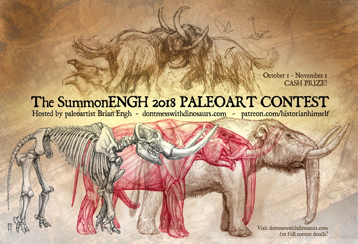 The SummonEngh Paleoart Contest Banner