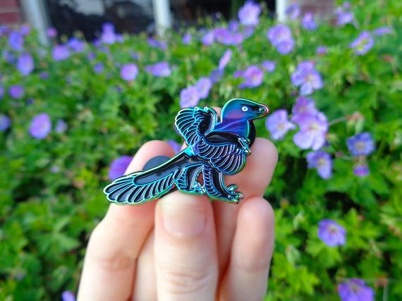 Caihong juji enamel pin by Elevenels