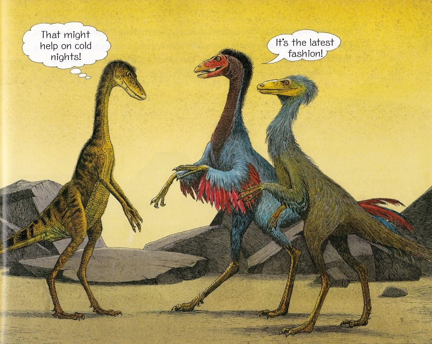 Fashionable feathered dinosaurs