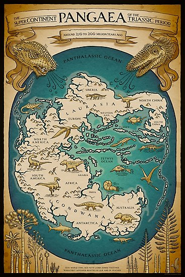 Pangaea poster by Richard Morden
