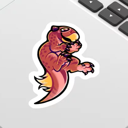 Psilly Psittacosaurus sticker by Luca Crow