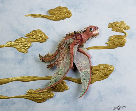 Jeholopterus pterosaur papercraft by Wildlife in Paper