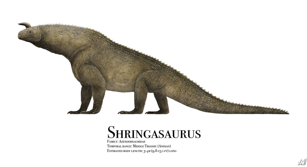 Shringasaurus illustration by Liam Elward