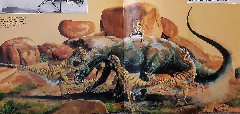 Deinonychus and Tenontosaurus by Steve Kirk