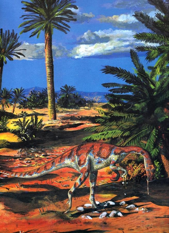 Oviraptor by Steve Kirk