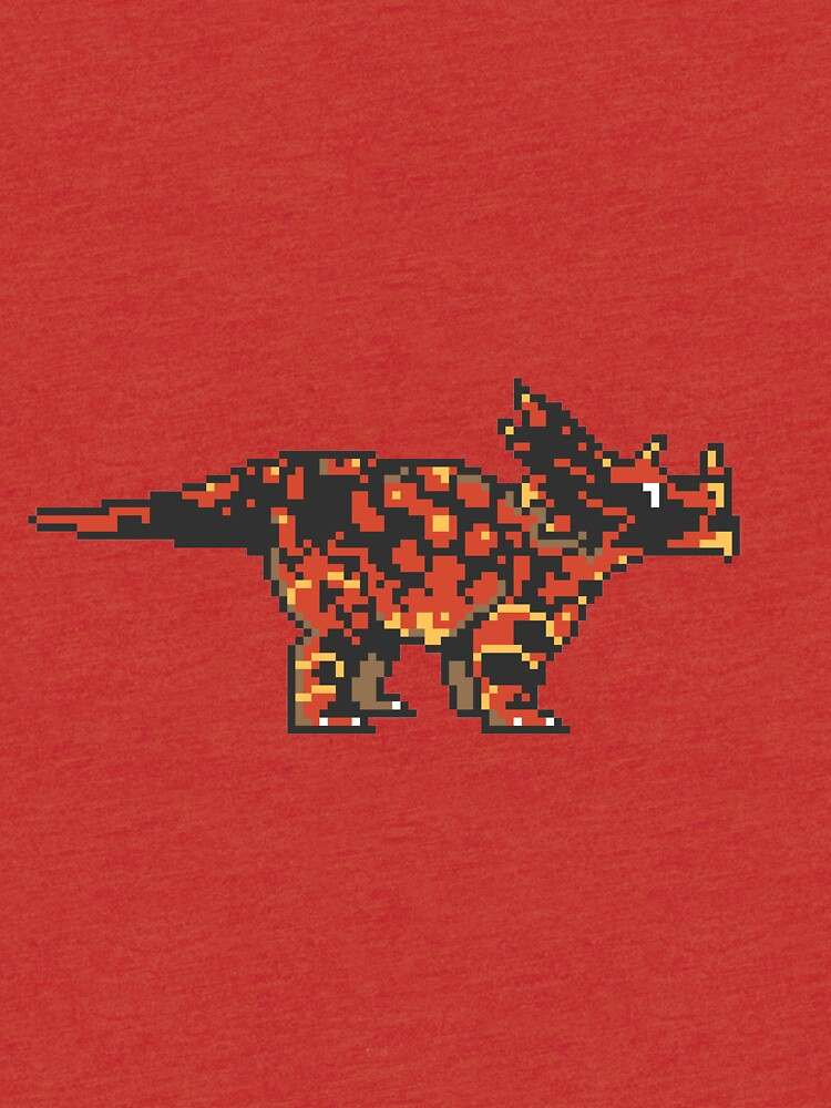 Pixel Triceratops art by Ash Dadoun