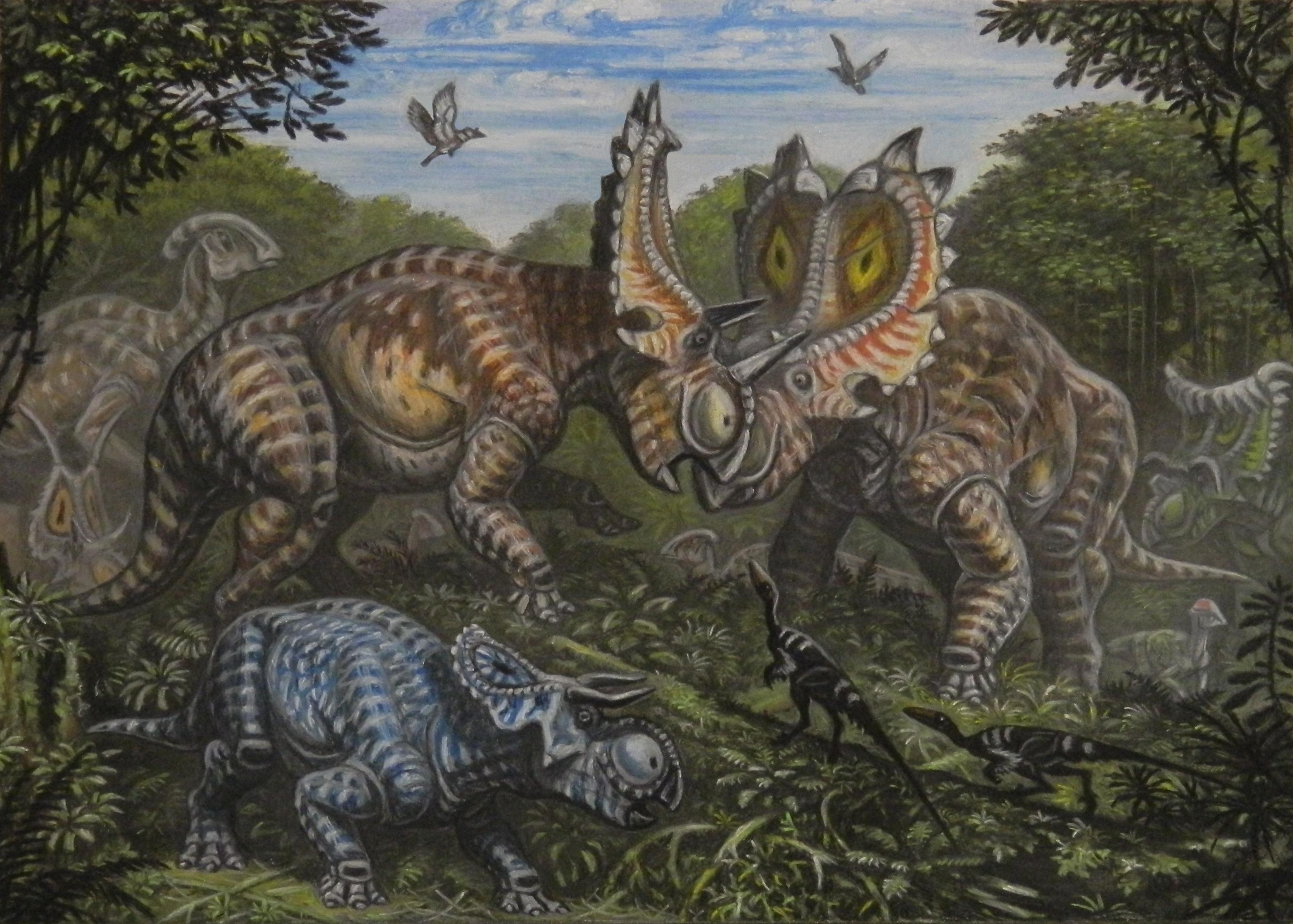 Andrey Belov's Utahceratops battle