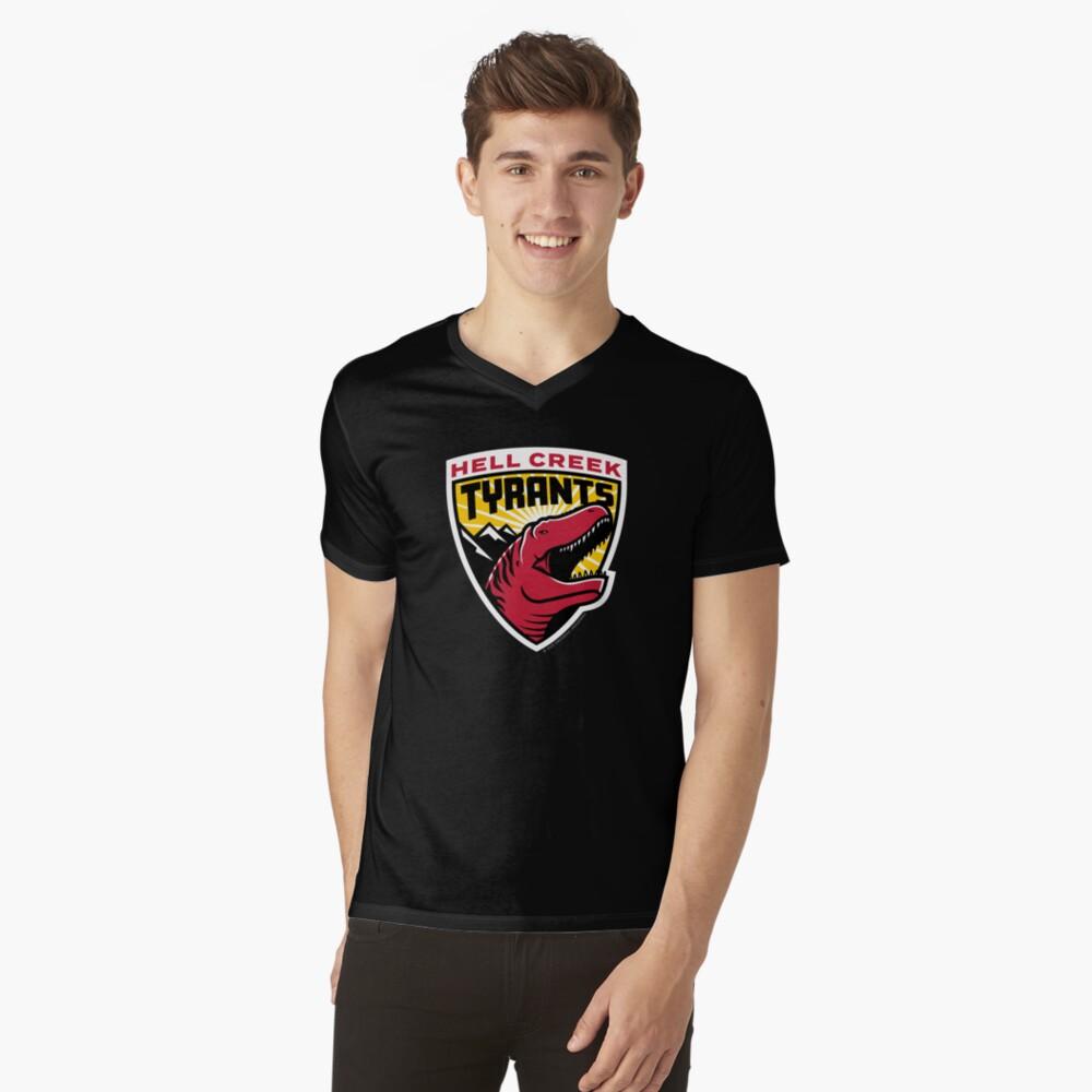 Hell Creek Tyrants parody sports logo tee shirt