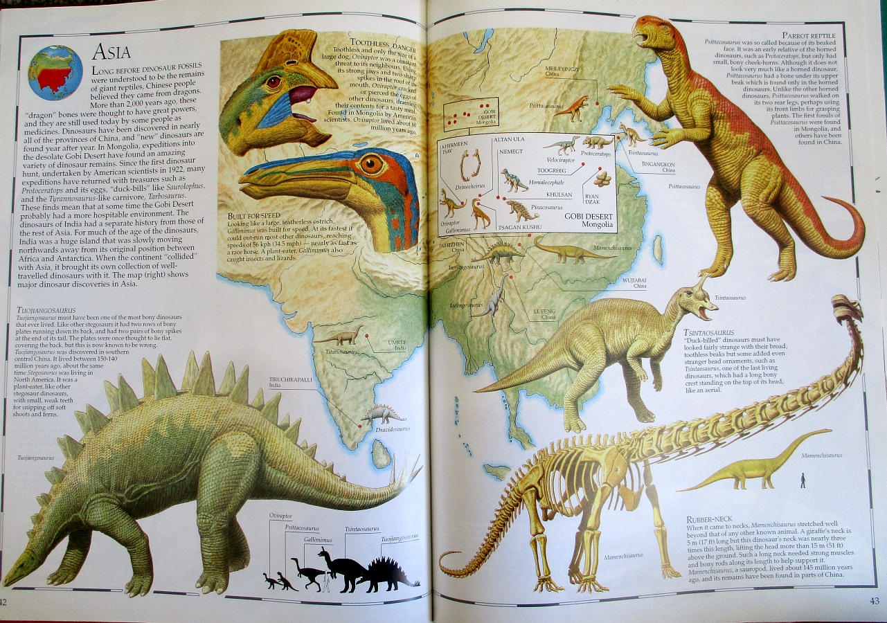 Map of Asia - Great Dinosaur Atlas