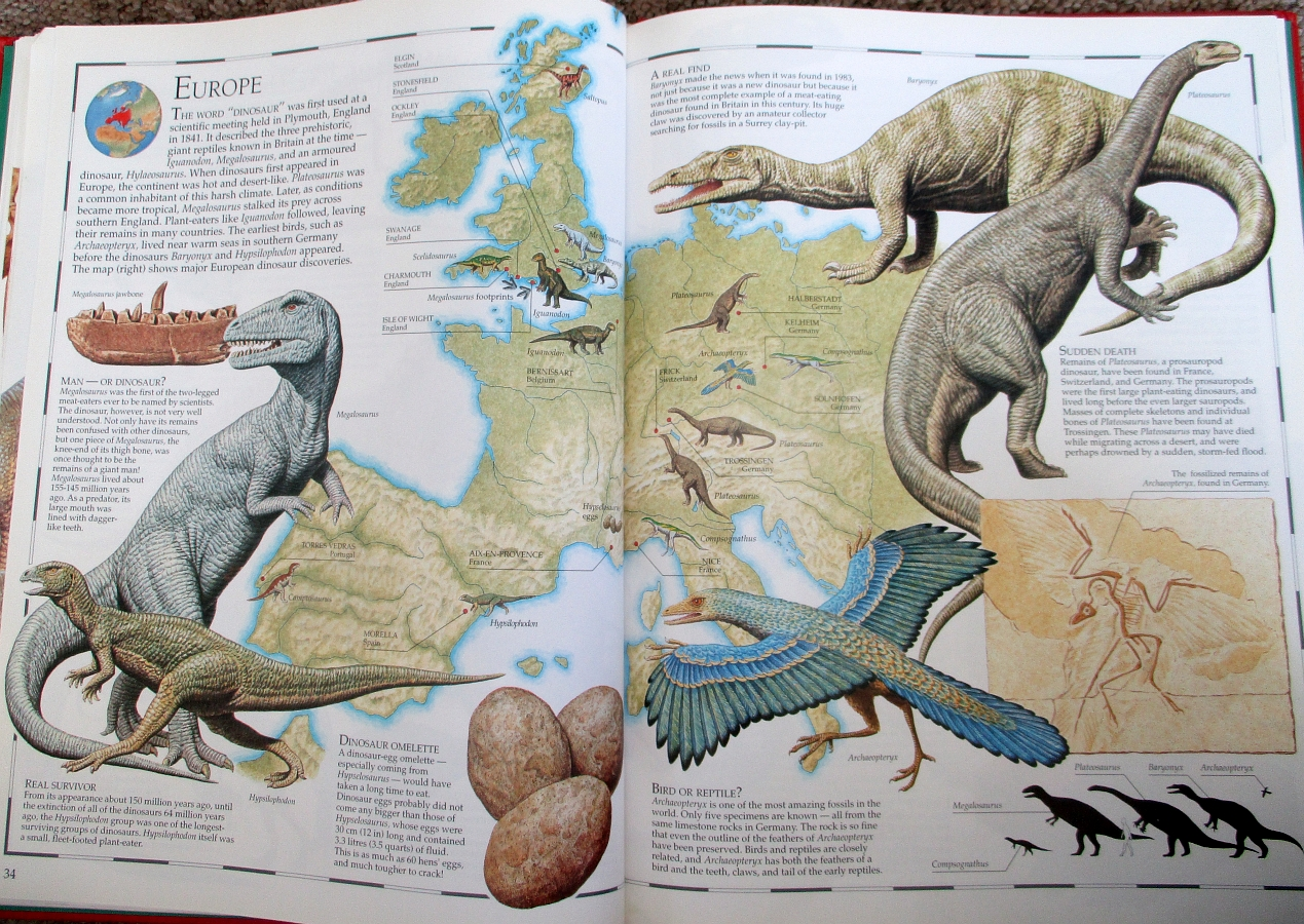 Europe map - Great Dinosaur Atlas