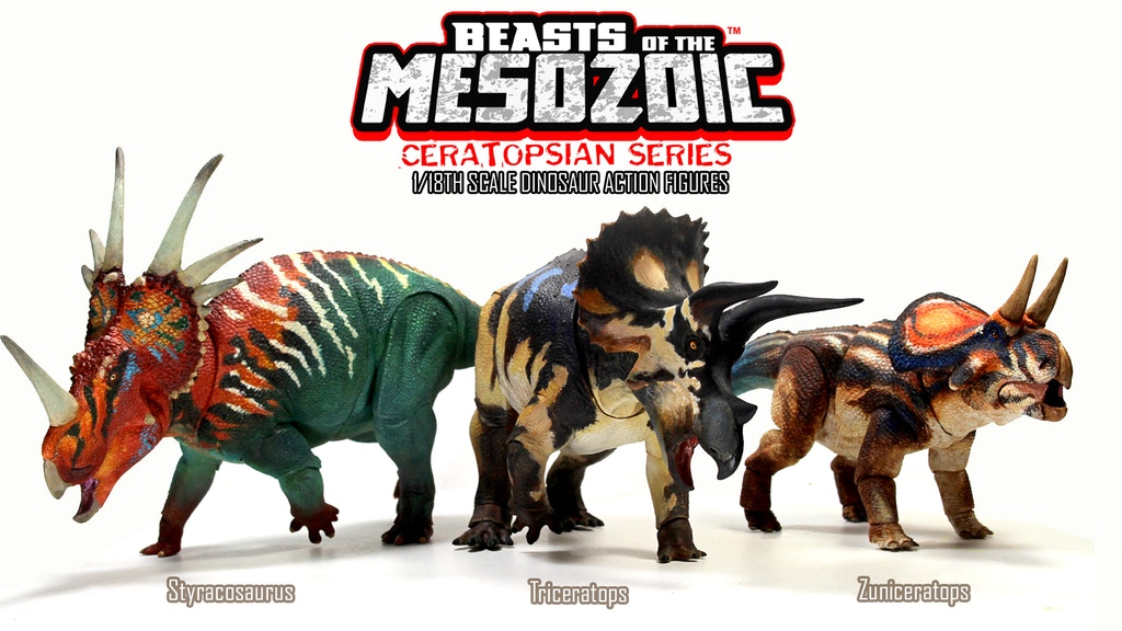 Cover photo for Beasts of the Mesozoic Ceratopsian Series Kickstarter.