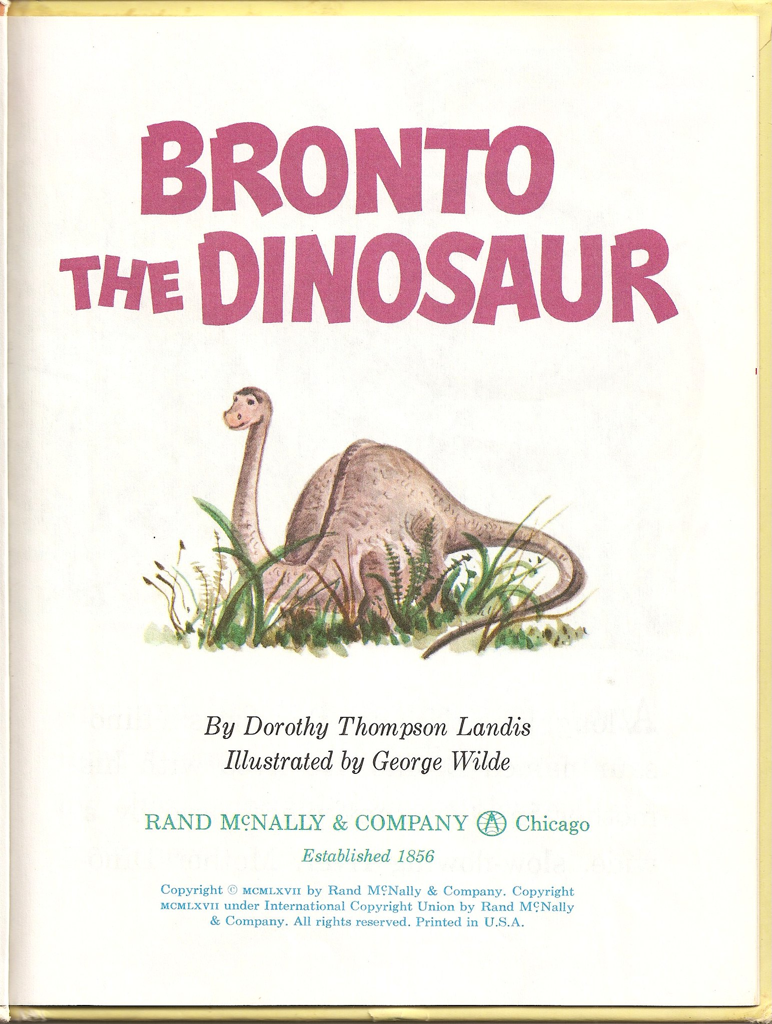 Bronto the Dinosaur title page