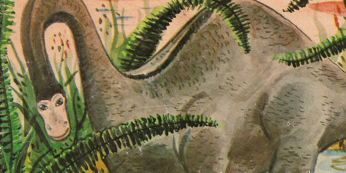 Detail image of Bronto the dinosaur