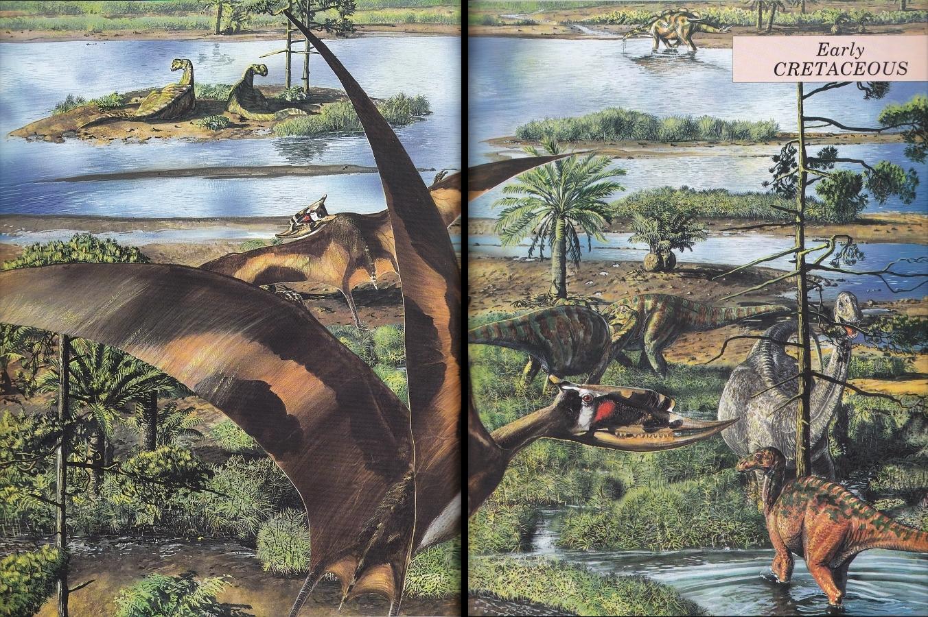 Early Cretaceous scene by Steve Kirk