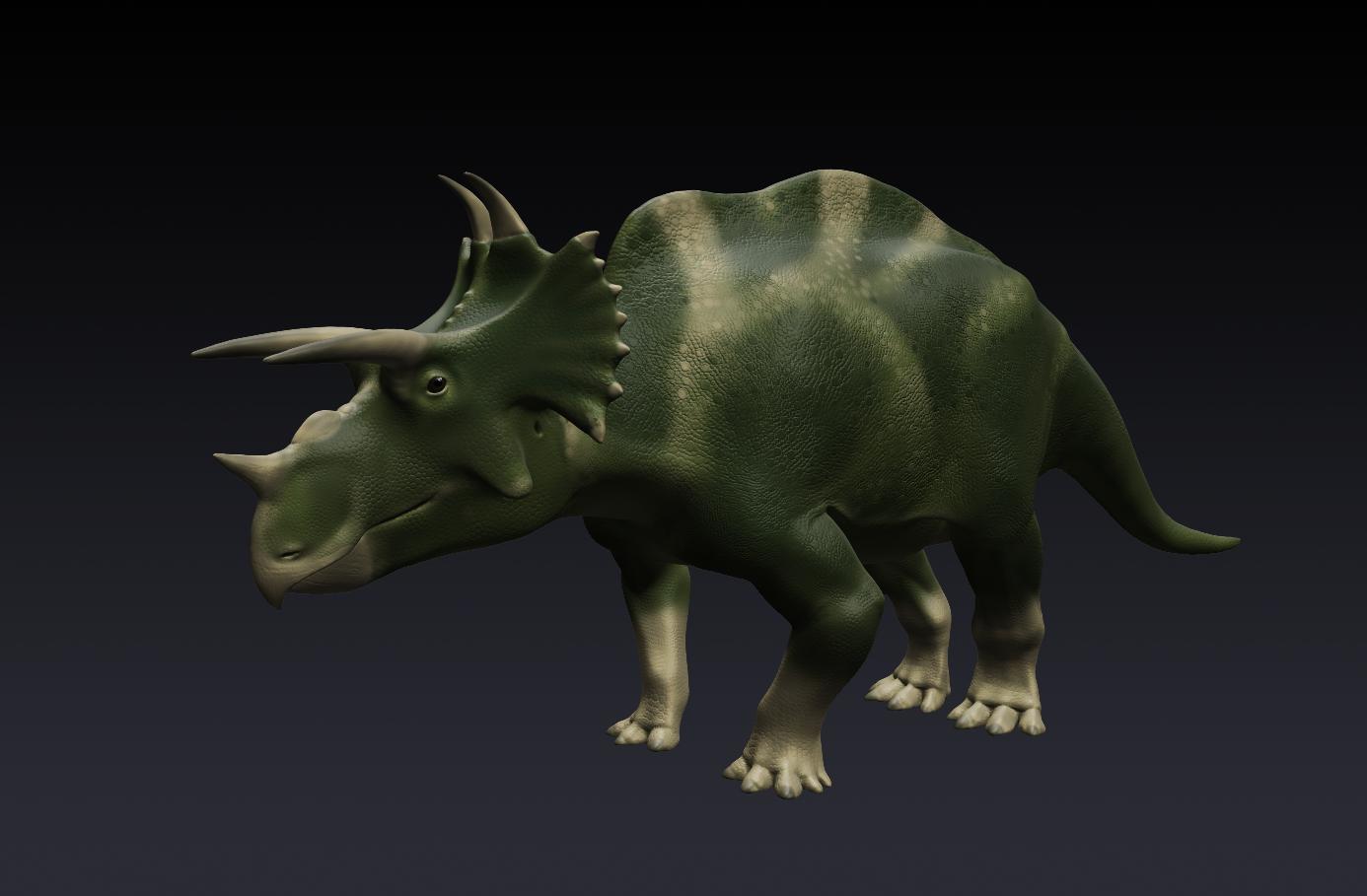 """3D model of """"Hyperbolops"""" Ludosaur by Mette Aumala"""