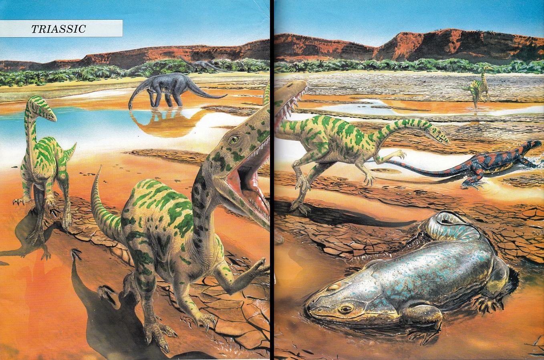 Triassic scene by Steve Kirk