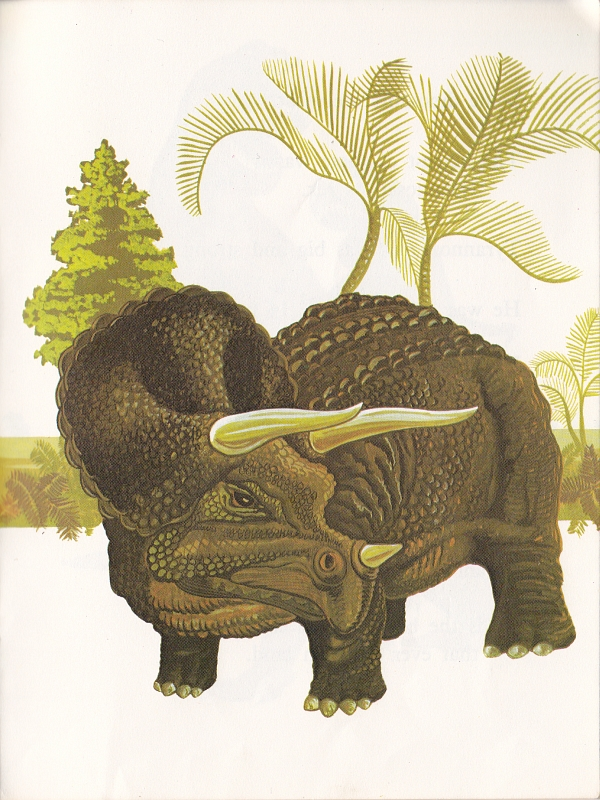 Triceratops by Maurice Hutchings
