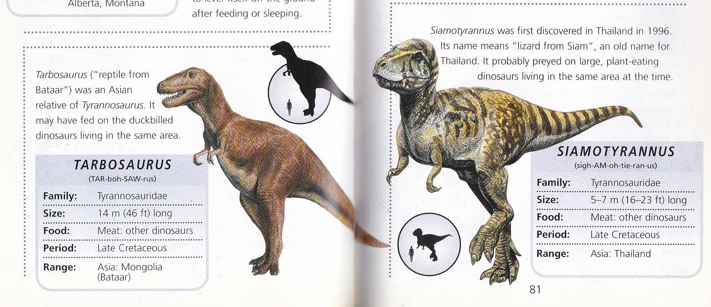 Tarbosaurus and Siamotyrannus by Steve Kirk