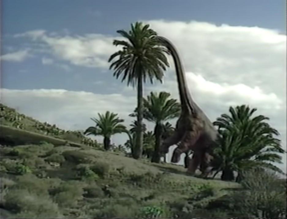 Rearing brachiosaur