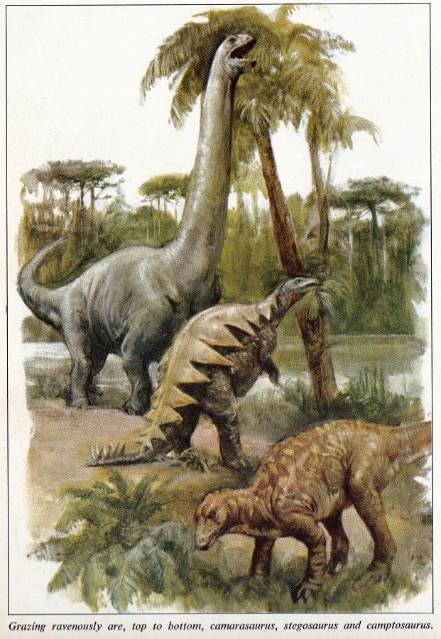 Jurassic dinosaurs by Burt Silverman