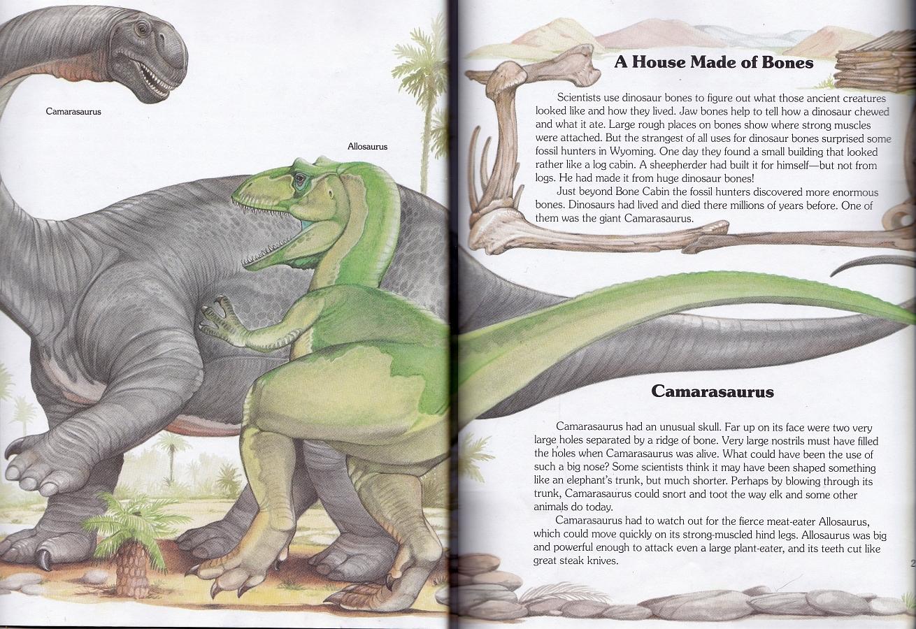 Allosaurus and Camarasaurus by Christopher Santoro