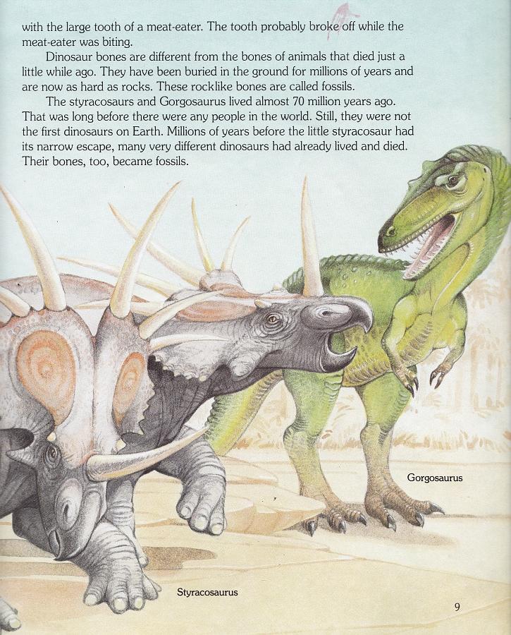 Styracosaurus and Gorgosaurus by Christopher Santoro