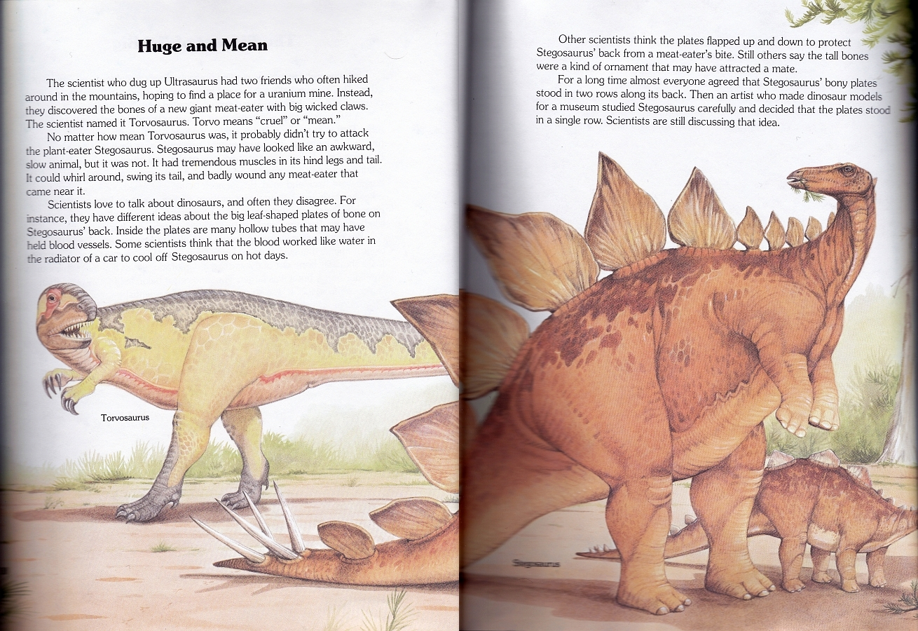 Torvosaurus and Stegosaurus by Christopher Santoro